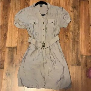 Poetry clothing dress size M shiny gray